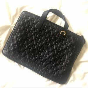 "Marc Jacobs Black Leather Laptop Bag 15"""
